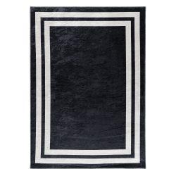 Caimas 2971 fekete-fehér modern mintás szőnyeg  80x 300 cm