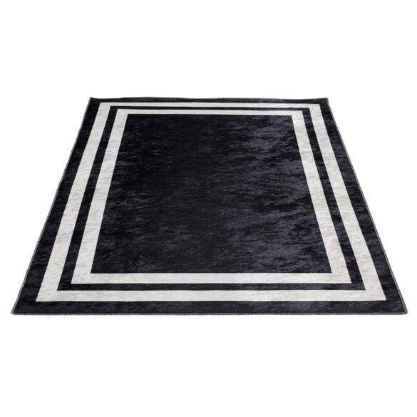 Caimas 2971 fekete-fehér modern mintás szőnyeg  80x 150 cm