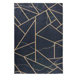 Caimas 2990 fekete-arany modern geometriai mintás szőnyeg  80x 150 cm