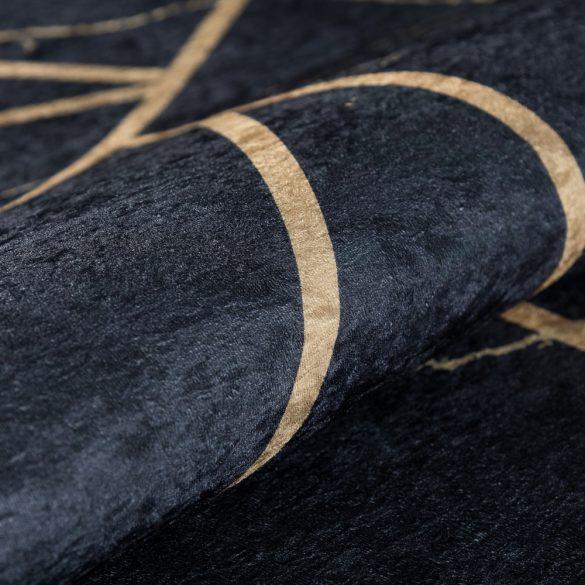 Caimas 2990 fekete-arany modern geometriai mintás szőnyeg 160x 230 cm