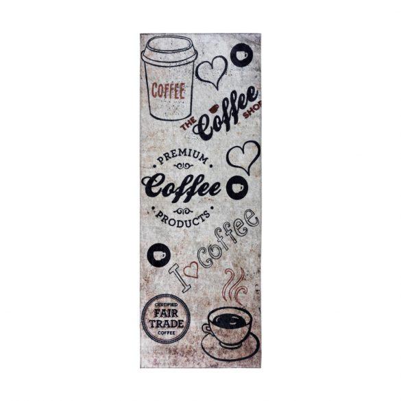 Caimas 3020 konyhai szőnyeg 65x180 cm - coffee mintás