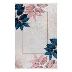 Caimas 5700 kék-rózsaszín modern levél mintás szőnyeg 120x 170 cm