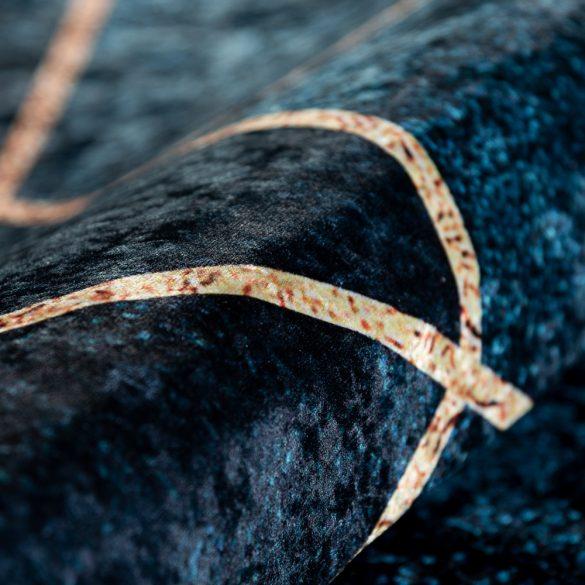 Caimas 5800 kék-arany modern geometriai mintás szőnyeg 160x 230 cm