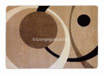 Caramell kétkörös pöttyös szőnyeg  80x150 cm