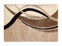 Caramell modern vonalas szőnyeg  80x150 cm