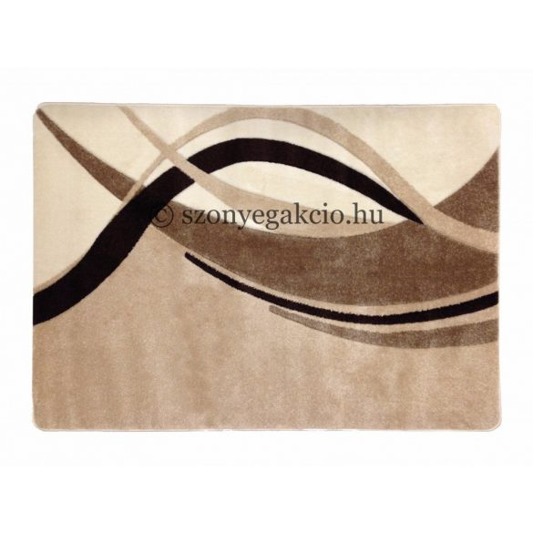 Caramell modern vonalas szőnyeg  60x220 cm