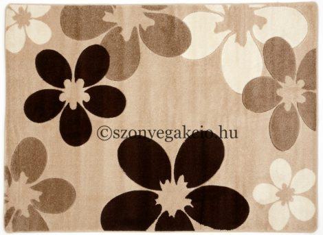 Caramell virágos szőnyeg 160x220 cm