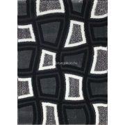 Carnaval 5540 szürke-fekete kockás szőnyeg 120x180 cm