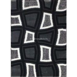 Carnaval 5540 szürke-fekete kockás szőnyeg 200x290 cm - UTOLSÓ DARAB!