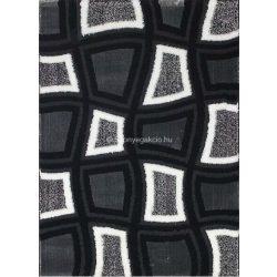 Carnaval 5540 szürke-fekete kockás szőnyeg 120x180 cm - UTOLSÓ DARAB!