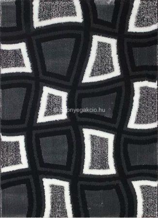 Carnaval 5540 szürke-fekete kockás szőnyeg 160x220 cm