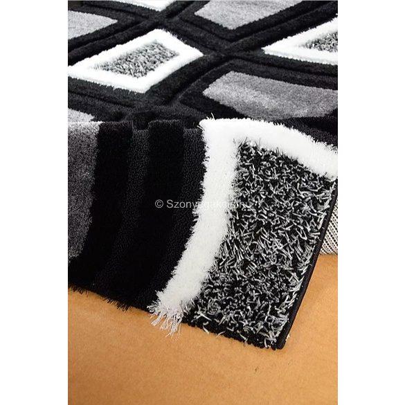 Carnaval 5540 szürke-fekete kockás szőnyeg 160x220 cm - UTOLSÓ DARAB!