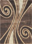 Carnaval 5550 barna csigavonalas szőnyeg 160x220 cm