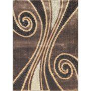 Carnaval 5550 barna csigavonalas szőnyeg 120x180 cm