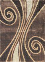 Carnaval 5550 barna csigavonalas szőnyeg 140x190 cm