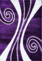 Carnaval 5550 lila csigavonalas szőnyeg 200x290 cm