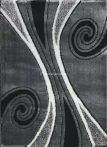 Carnaval 5550 szürke-fekete csigavonalas szőnyeg 120x180 cm