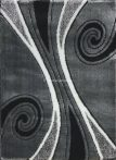 Carnaval 5550 szürke-fekete csigavonalas szőnyeg 160x220 cm