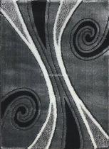 Carnaval 5550 szürke-fekete csigavonalas szőnyeg 140x190 cm