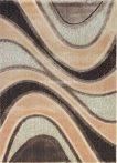 Carnaval 5569 barna hullámos szőnyeg  80x150 cm