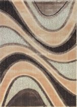 Carnaval 5569 barna hullámos szőnyeg 140x190 cm