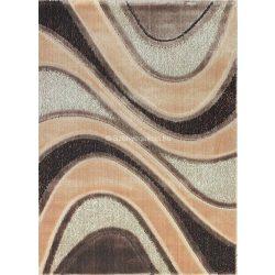 Carnaval 5569 barna hullámos szőnyeg 120x180 cm - UTOLSÓ DARAB!