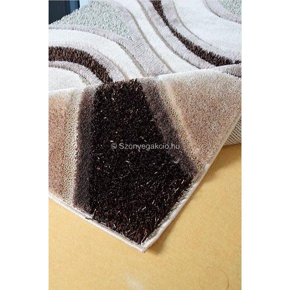 Carnaval 5569 barna hullámos szőnyeg 200x290 cm