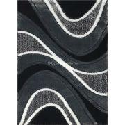 Carnaval 5569 szürke-fekete hullámos szőnyeg 120x180 cm