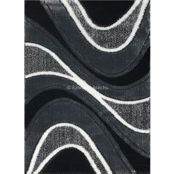 Carnaval 5569 szürke-fekete hullámos szőnyeg 240x330 cm