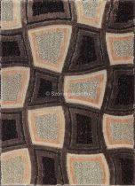 Carnaval 5540 barna kockás szőnyeg 160x220 cm