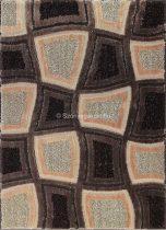 Carnaval 5540 barna kockás szőnyeg 140x190 cm