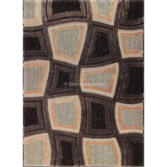 Carnaval 5540 barna kockás szőnyeg 120x180 cm - UTOLSÓ DARAB!