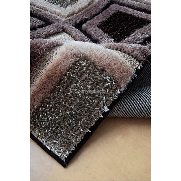Carnaval 5540 barna kockás szőnyeg 200x290 cm