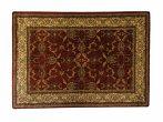 Classic bordó 1861 teli indás rojt nélküli szőnyeg  80x150 cm