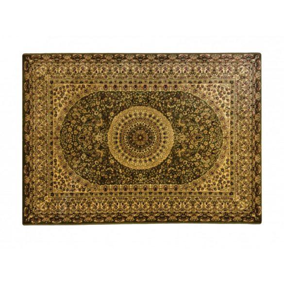 Classic zöld 2159 középmintás rojt nélküli szőnyeg  80x150 cm