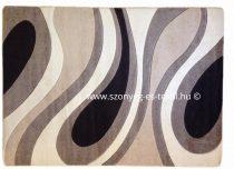 Cream csepp/vízfolyás szőnyeg  60x220 cm
