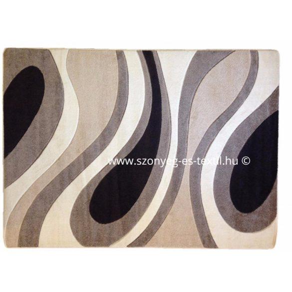 Cream csepp/vízfolyás szőnyeg 200x280 cm