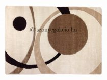 Cream két körös pöttyös szőnyeg  60x110 cm