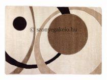 Cream két körös pöttyös szőnyeg  60x220 cm
