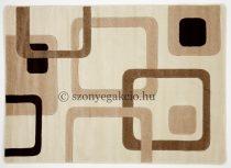 Cream kockás szőnyeg  60x110 cm