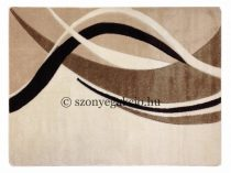 Cream modern vonalas szőnyeg  80x150 cm