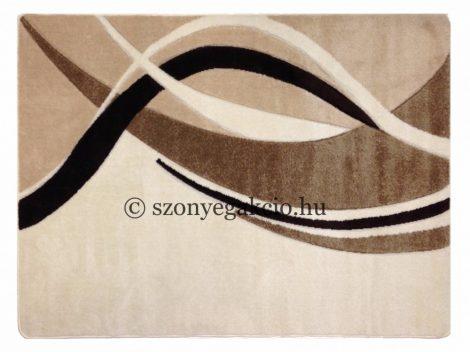 Cream modern vonalas szőnyeg 160x220 cm