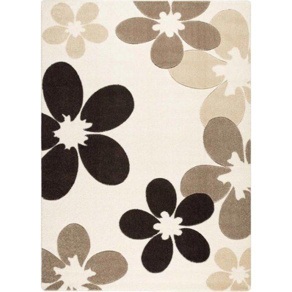 Cream virágos szőnyeg 160x220 cm