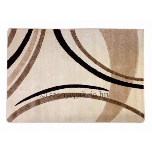 Cream vonalas szőnyeg 160x220 cm