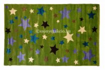 Summer Color Csillagos zöld gyerekszőnyeg 150x230