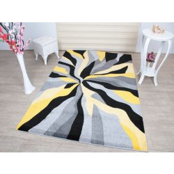 Barcelona D569A_FMF28 sárga modern mintás szőnyeg  80x150 cm