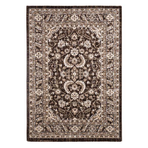 Ottoman D740A_FMA22 barna klasszikus mintás szőnyeg  80x150 cm