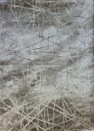 Dizayn 2371 bézs vonalkás mintás szőnyeg 160x230 cm