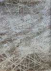 Dizayn 2371 bézs vonalkás mintás szőnyeg  80x150 cm