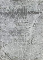 Dizayn 2371 szürke vonalkás mintás szőnyeg 160x230 cm